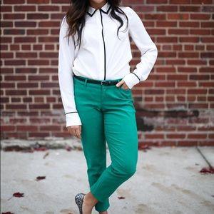 J.CREW tuxedo blouse